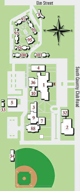 Redlands Campus map