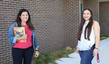 Student Support Services Director meets with student Cheyenne Leach