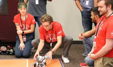 Students compete in an NCAS Mars rover competition